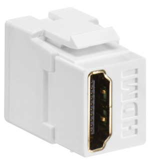 Image - New! Leviton QuickPort<sup>&reg;</sup> HDMI<sup>&reg;</sup> Feed-through Connector